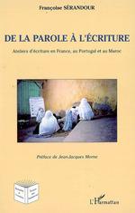 Vente EBooks : De la parole à l'écriture  - Françoise Serandour