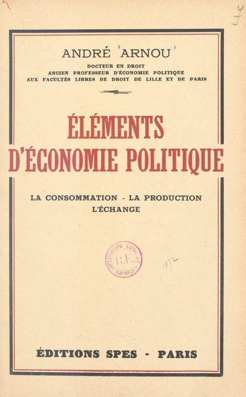 Éléments d'économie politique