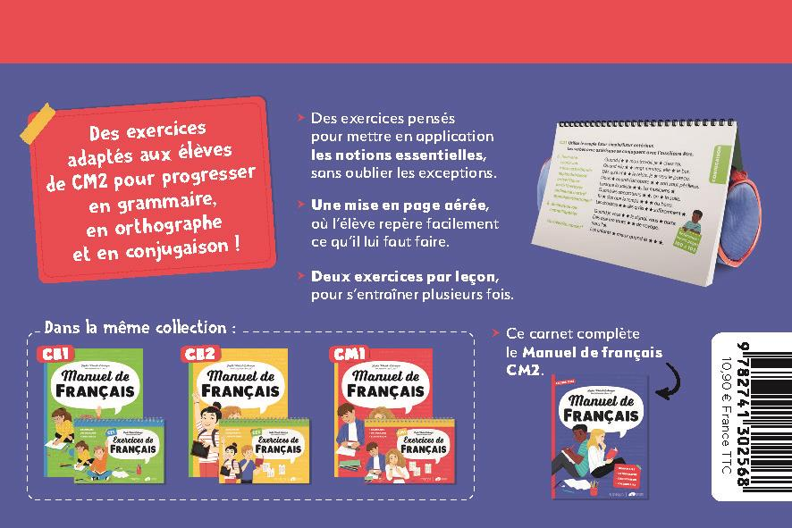 Exercices de français ; CM2