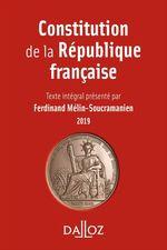 Vente Livre Numérique : Constitution de la République française. 2019  - Ferdinand Mélin-Soucramanien
