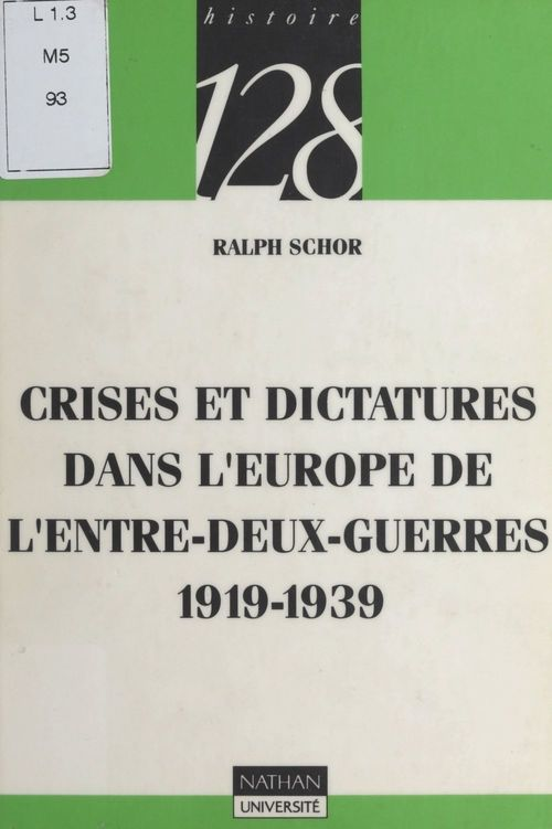 Crises et dictatures dans l'Europe de l'entre-deux-guerres, 1919-1939