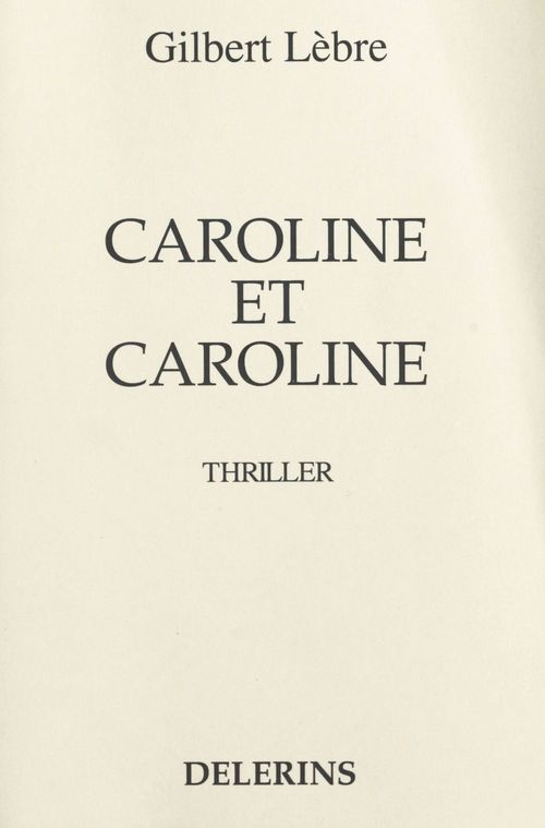 Caroline et Caroline