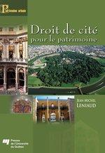 Vente Livre Numérique : Droit de cité pour le patrimoine  - Jean-Michel Leniaud