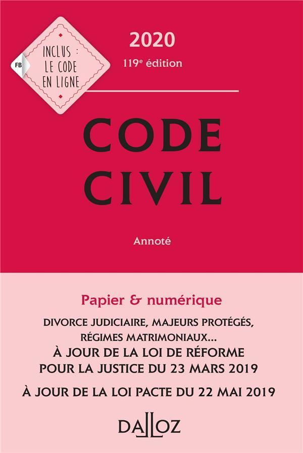 Code civil (édition 2020)