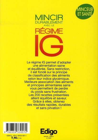 Mincir durablement avec le regime IG