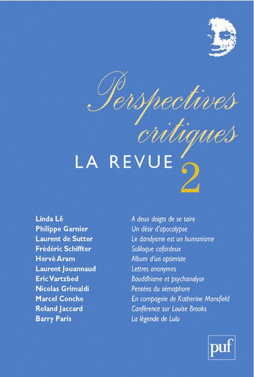 Perspectives critiques, la revue n.2