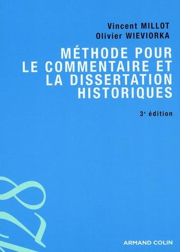 Méthode pour le commentaire et la dissertation historiques (3e édition)