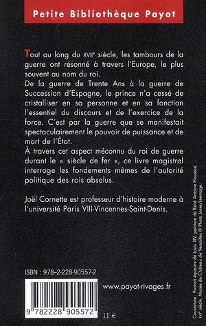 Le roi de guerre ; essai sur la souveraineté dans la France du Grand siècle