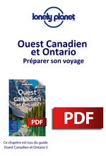 Ouest Canadien et Ontario - Préparer son voyage  - LONELY PLANET ENG