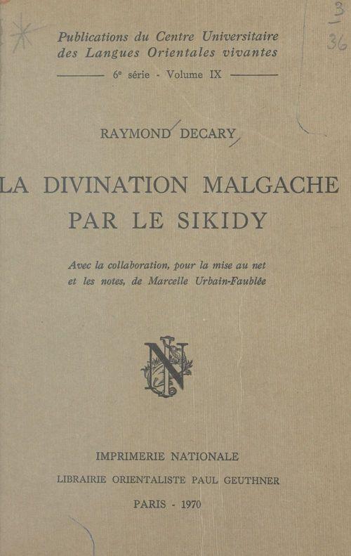 La divination malgache par le Sikidy