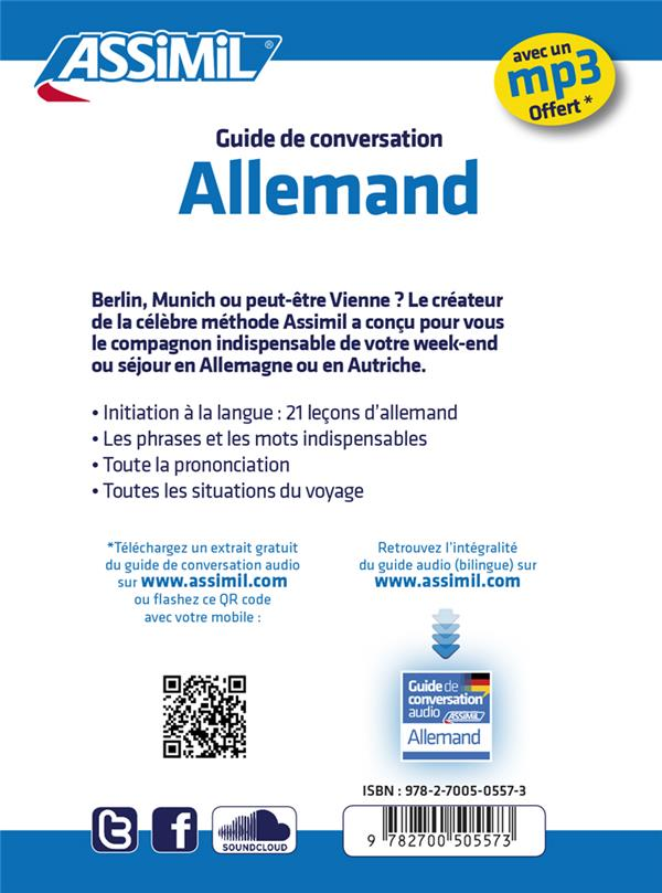 Guides de conversation ; allemand