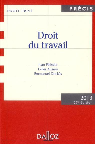 Droit Du Travail (Edition 2013)