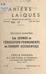 """Vente Livre Numérique : Colloque européen """"Les jeunes et l'éducation permanente en Europe occidentale""""  - Michel Roux - Sylvain de Coster"""