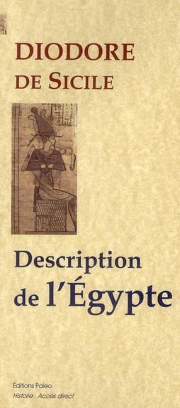 Bibliothèque historique t.1 ; description de l'Egypte