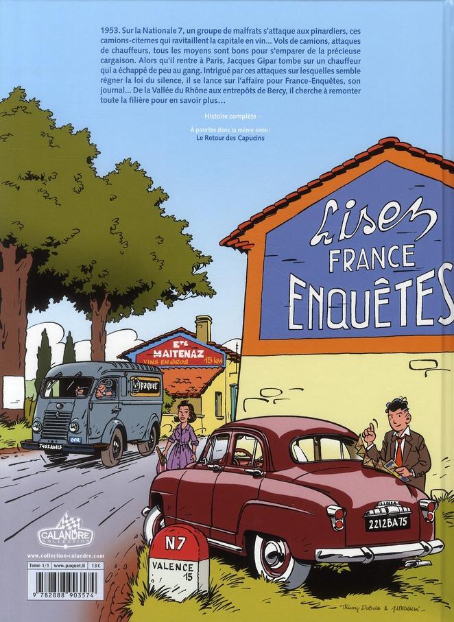 Une aventure de Jacques Gipar T.1 ; le gang des pinardiers