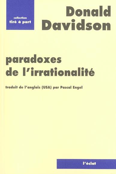 Paradoxes de l'irrationalite