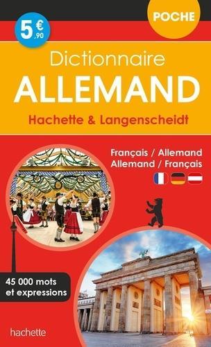 DICTIONNAIRE HACHETTE et LANGENSCHEIDT POCHE  -  FRANCAIS-ALLEMAND  ALLEMAND-FRANCAIS XXX