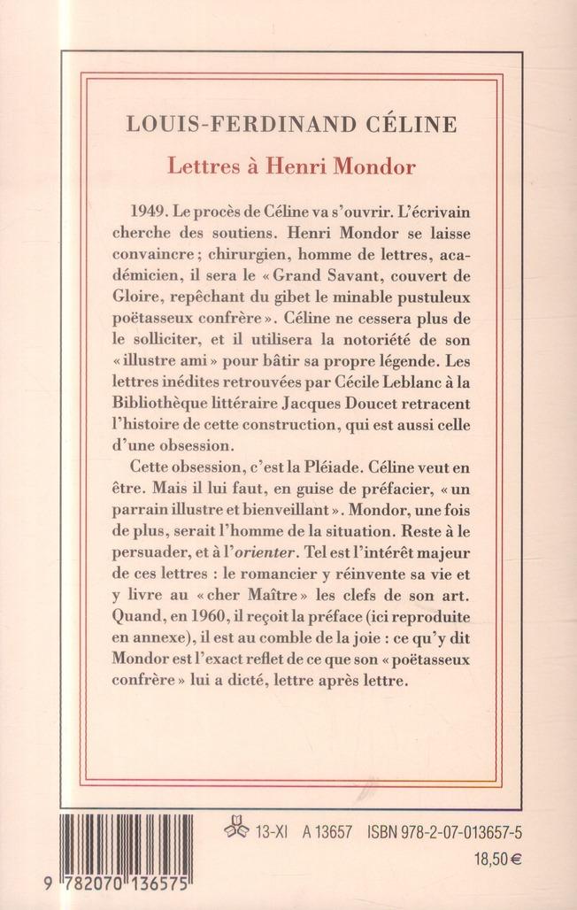 Lettres à Henri Mondor