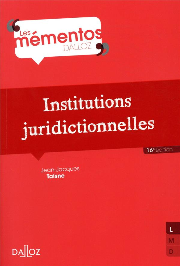 Institutions juridictionnelles (16e édition)