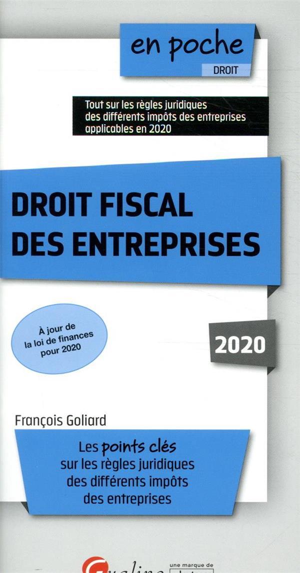 Droit fiscal des entreprises (édition 2020)
