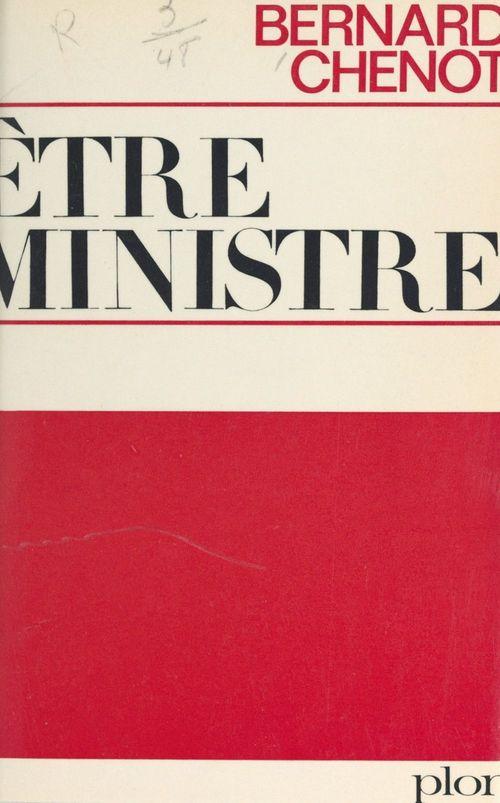 Être ministre