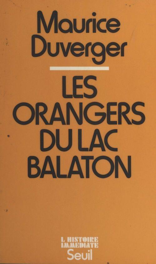Les orangers du lac Balaton