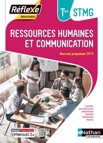 ressources humaines et communication term stmg (pochette reflexe) livre + licence eleve - 2020