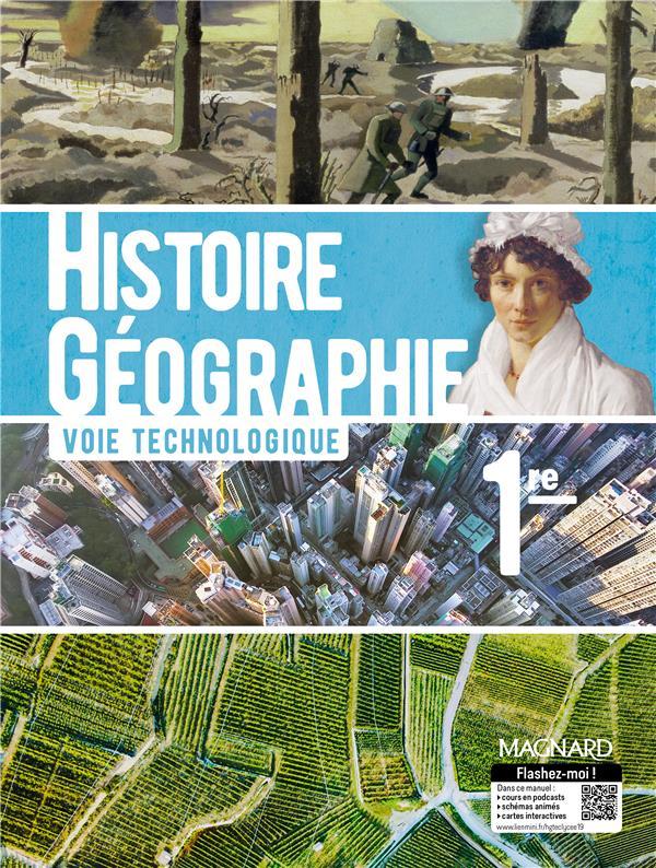 Histoire géographie ; 1re technologique ; manuel élève (édition 2019)