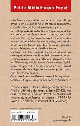 La France virile ; des femmes tondues à la libération