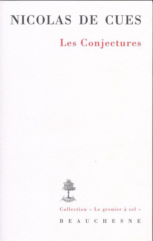 Nicolas de cues - les conjectures