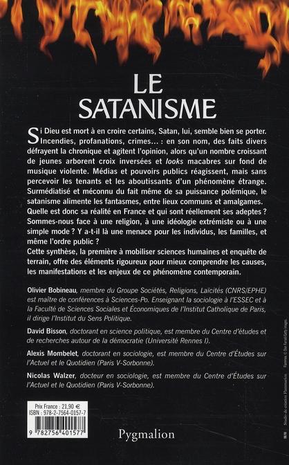 le satanisme ; quel danger pour la société ?