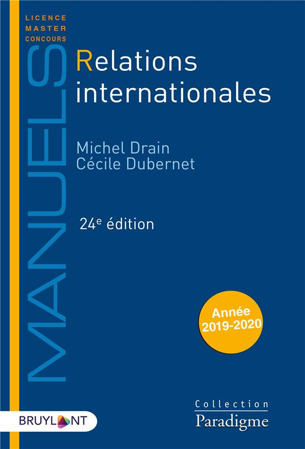 Relations internationales (édition 2020)