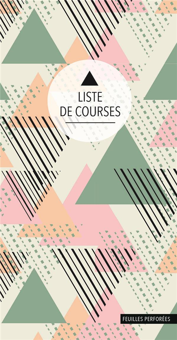 Liste de courses ; triangles