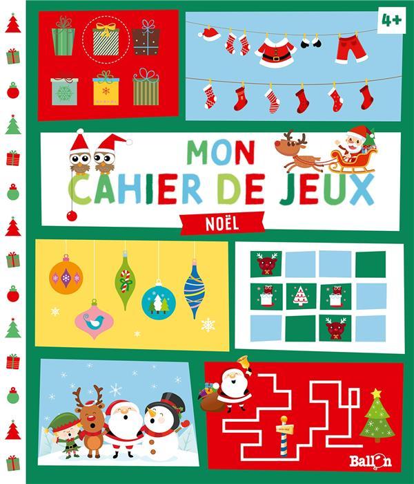 mon cahier de jeux ; Noël