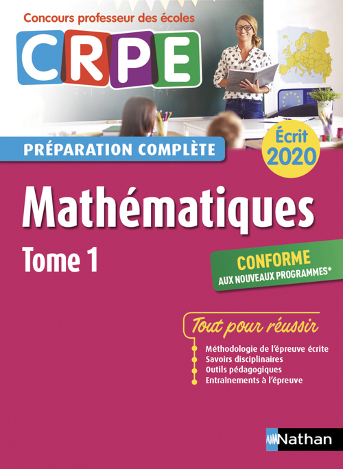 Annales CRPE ; mathématiques t.1 ; écrit (édition 2020)