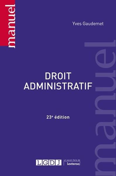 Droit administratif (23e édition)