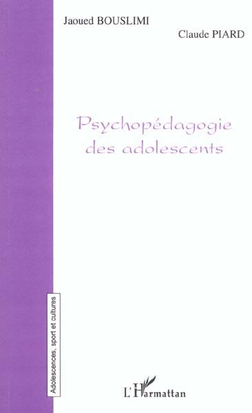 Psychopedagogie des adolescents