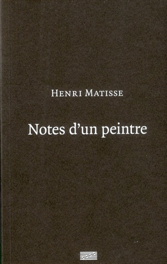 Notes d'un peintre