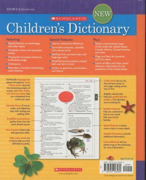 SCHOLASTIC CHILDREN'S DICTIONARY: 2010