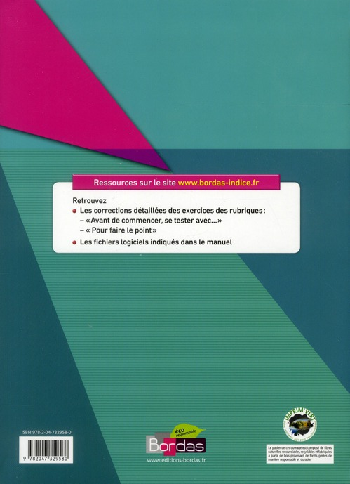 INDICE MATHS ; terminale ES ; enseignement de spécialité ; programme 2012