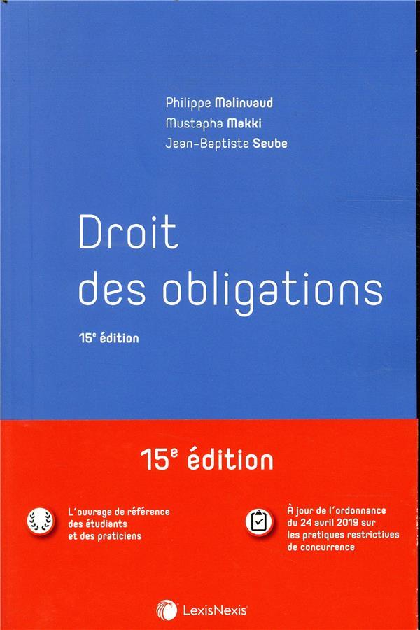 Droit des obligations (15e édition)