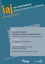 Vente EBooks : Le contrôle médical des fonctionnaires  - CIG Petite couronne