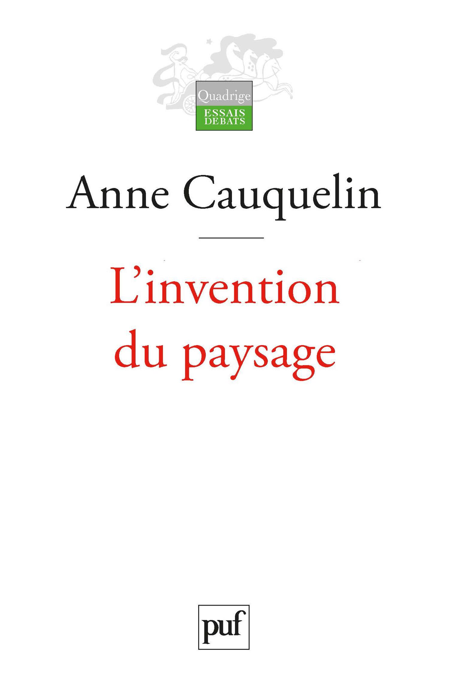 L'INVENTION DU PAYSAGE (3e édition)