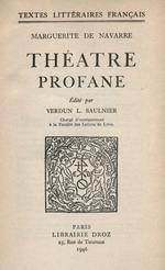 Théâtre profane  - Marguerite de Navarre