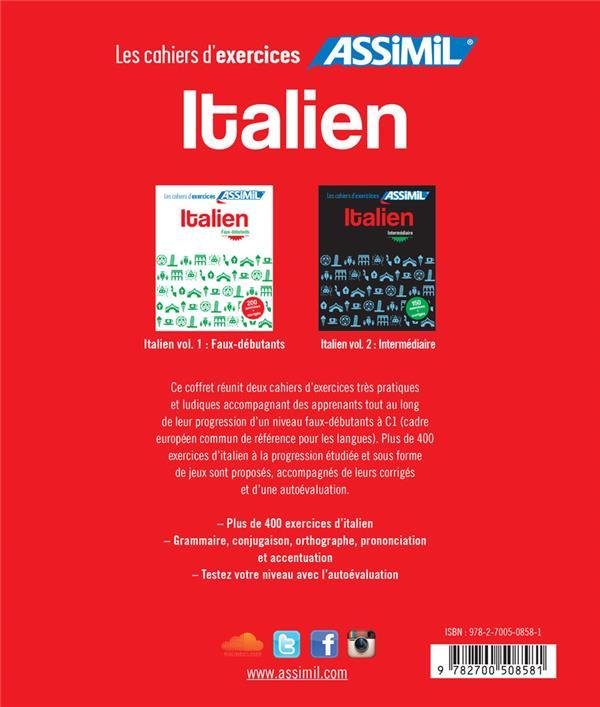 Italien ; niveaux faux-débutants & intermédiaire