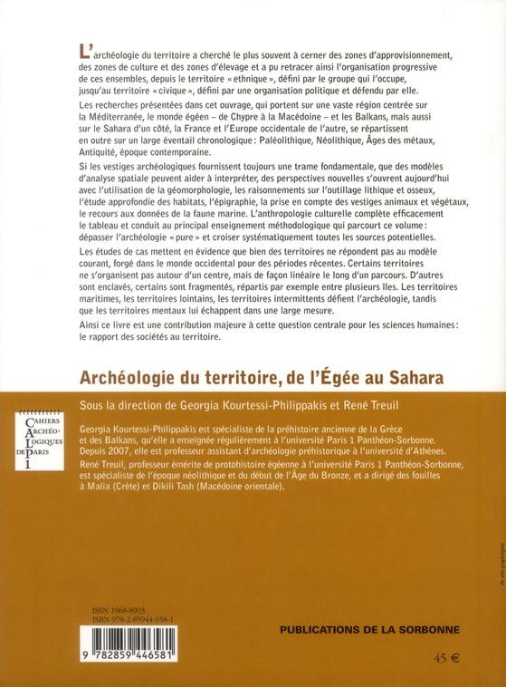 archéologie du territoire, de l'Egée au Sahara