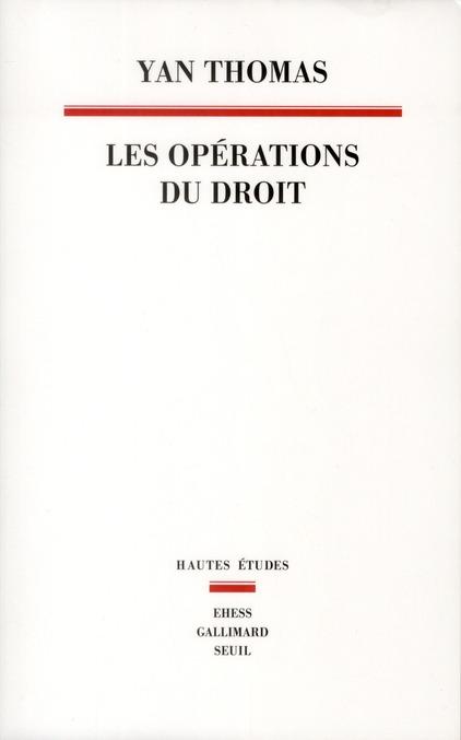 les opérations du droit