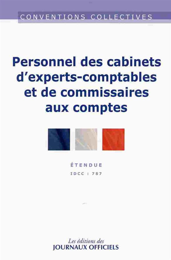 Cabinets experts-comptables et de commissaires aux comptes ; convention collective nationale étendue ; IDCC 787 (20e édition)