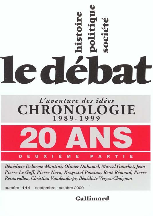 Revue le debat ; 20 ans t.2