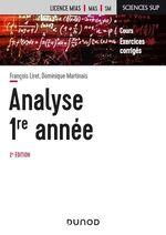 Vente Livre Numérique : Analyse - Licence 1re année - 2e éd.  - François Liret - Dominique Martinais